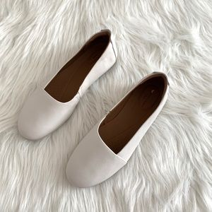 Clarks White Leather Un Coral Step Ballet Flat